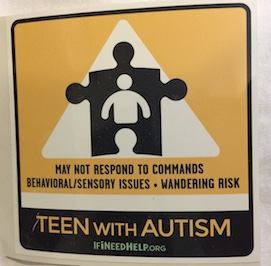 Teen with Autism Window Cling discounted