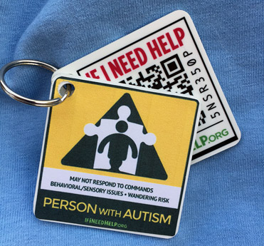 Person with Autism Keychain