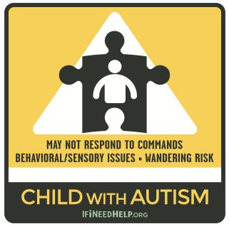 XSmall Child with Autism Sticker