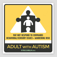 XSmall Adult Autism Sticker