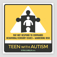 Teen Autism WindowCling