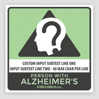 Alzheimers Sticker