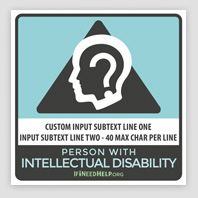 ID Window Cling 4 Pack
