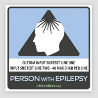 Epilepsy Cling 4 Pack