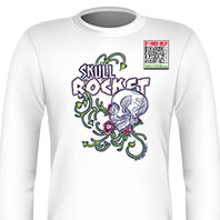 Skull Rocket Blue Long Sleeves