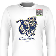 DoodleLion Blue Long Sleeves