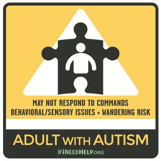 Adult with Autism Sticker