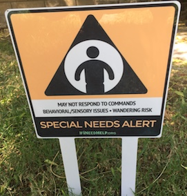 Special Needs Yard sign