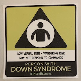 Teen with Down Syndrome Sticker