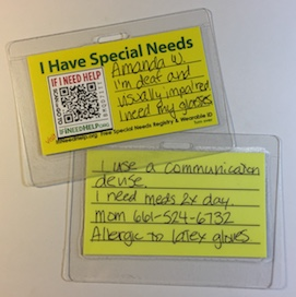 Special Needs Card