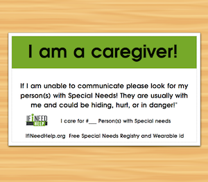 Free CaregiverWalletCard