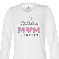 Autism Mom Strong 4 Long Sleeve
